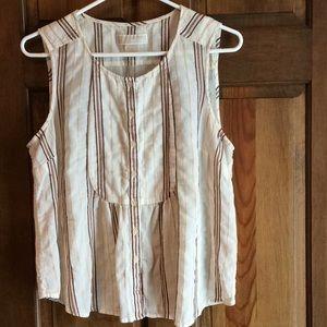 Michael Kors Sleeveless Shirt, cream color